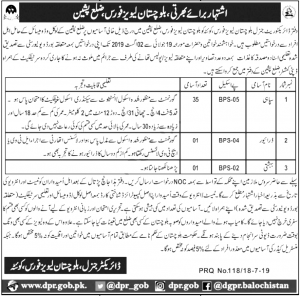 Balochistan Levies Force Pishin Constable Jobs 2019