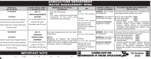 PPSC Water Management and Agricultural Officer Jobs 2020 Apply Online 1