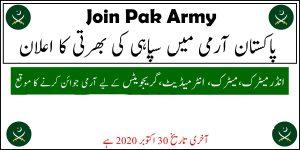 Join Pak Army as Soldier JCO Naib Khateeb Clerk Jobs 2020 Registration Online 1
