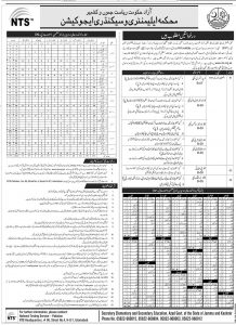 NTS Male Female AJK Teaching Jobs 2020 Download Application Form 1