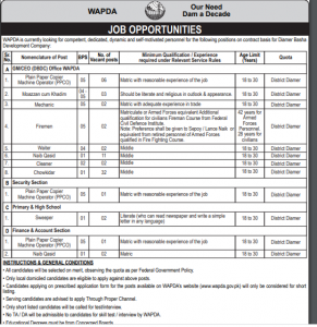 Latest Wapda Jobs 2020 Application Form Download Written Test Result Int 1