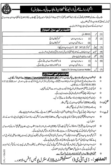 Punjab Highway Petrol Police Jobs 2021 1