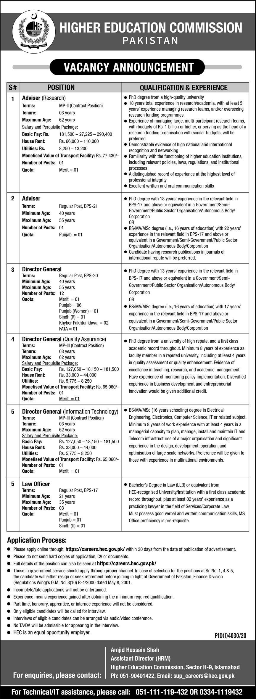 HEC Jobs 2021 Apply Online