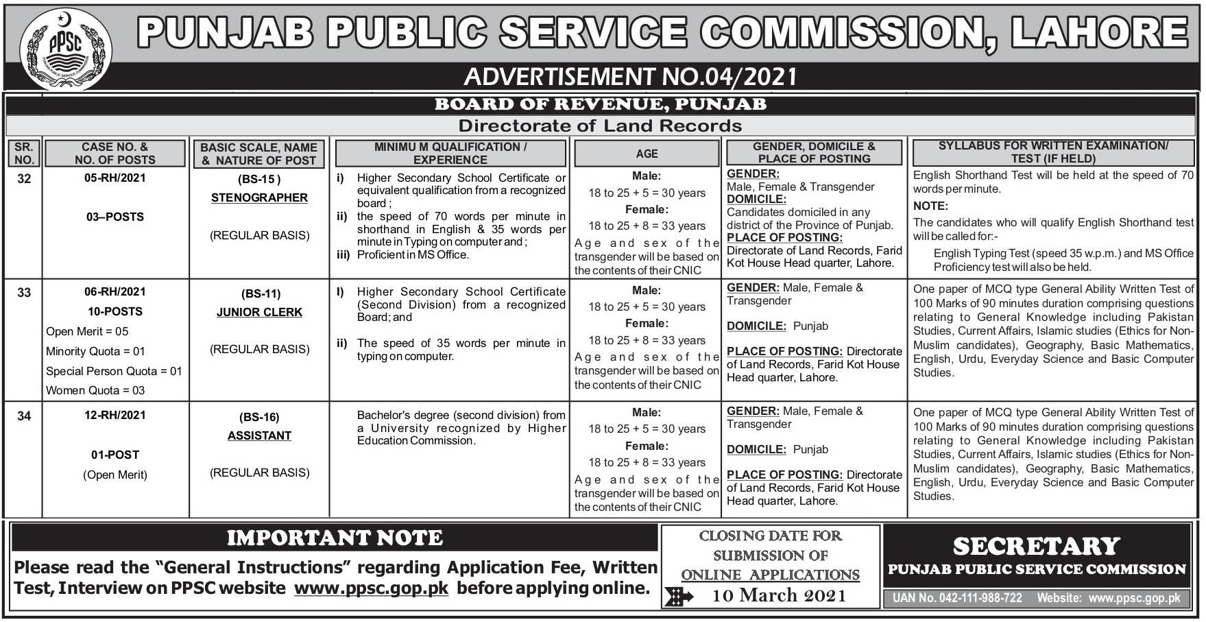 Board of Revenue Panjab