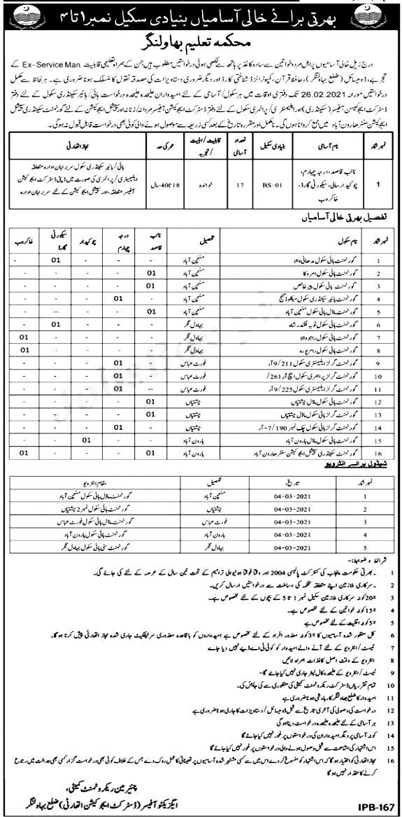 District Education Authority Bahawalnagar Jobs 2021