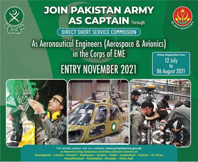Join Pakistan Army as Captain Through DSSC Jobs 2021